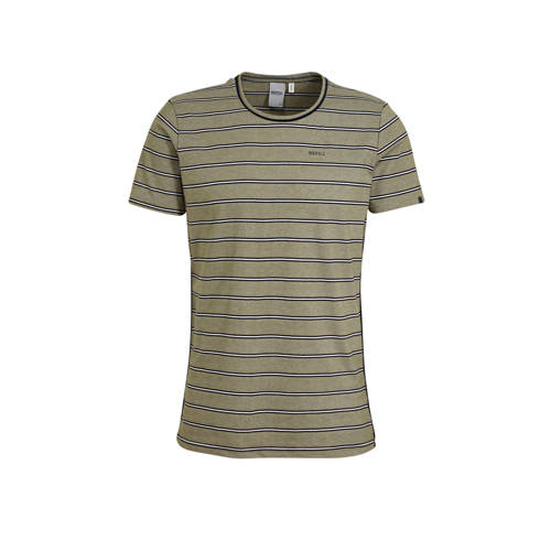 Refill by Shoeby gestreept T-shirt donkergroen