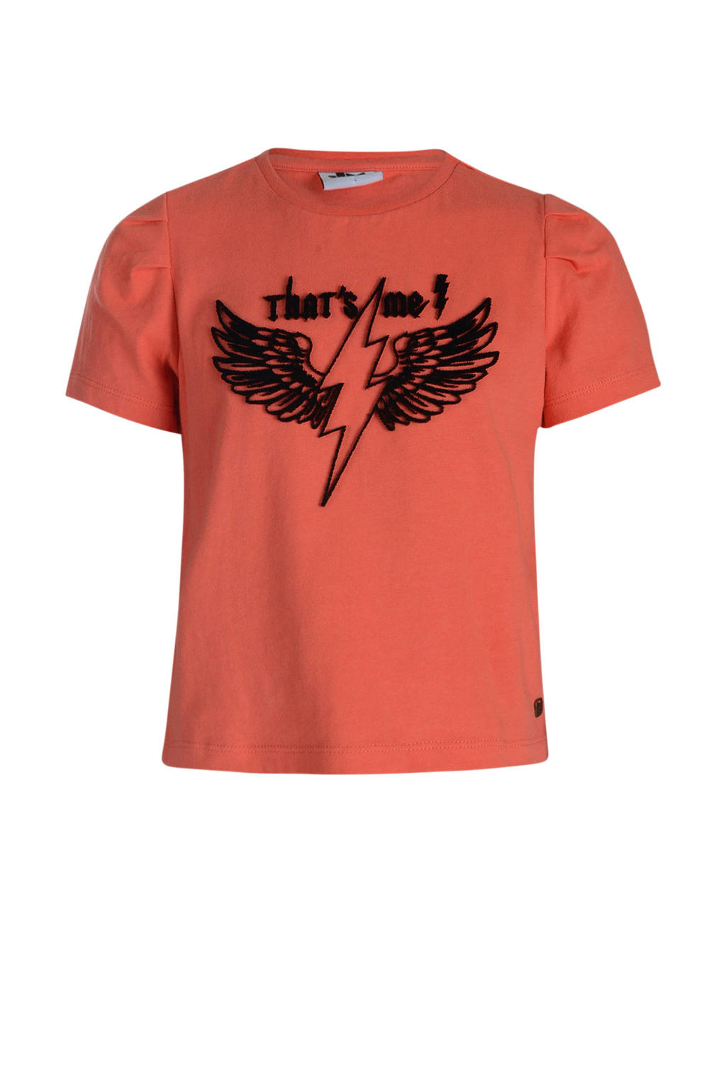 Jill & Mitch by Shoeby T-shirt met printopdruk donker oudroze, Donker oudroze