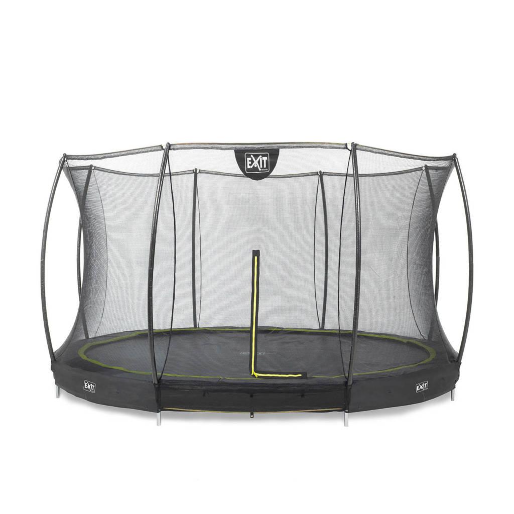 EXIT Silhouette Ground trampoline Ø366 cm, Zwart