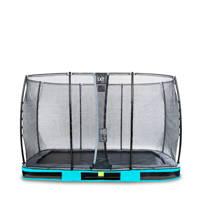 EXIT Elegant Ground trampoline 244x427 cm, Blauw