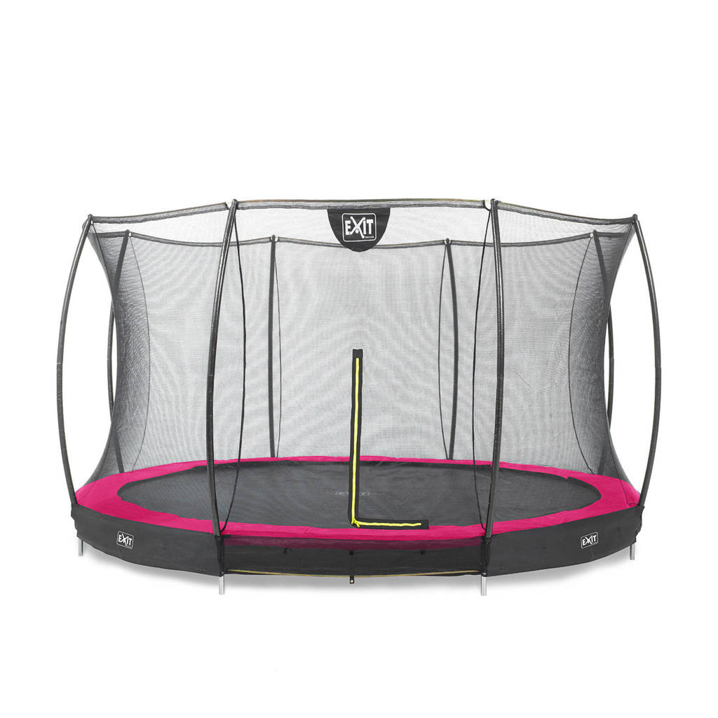 EXIT Silhouette Ground trampoline Ø366 cm, Roze