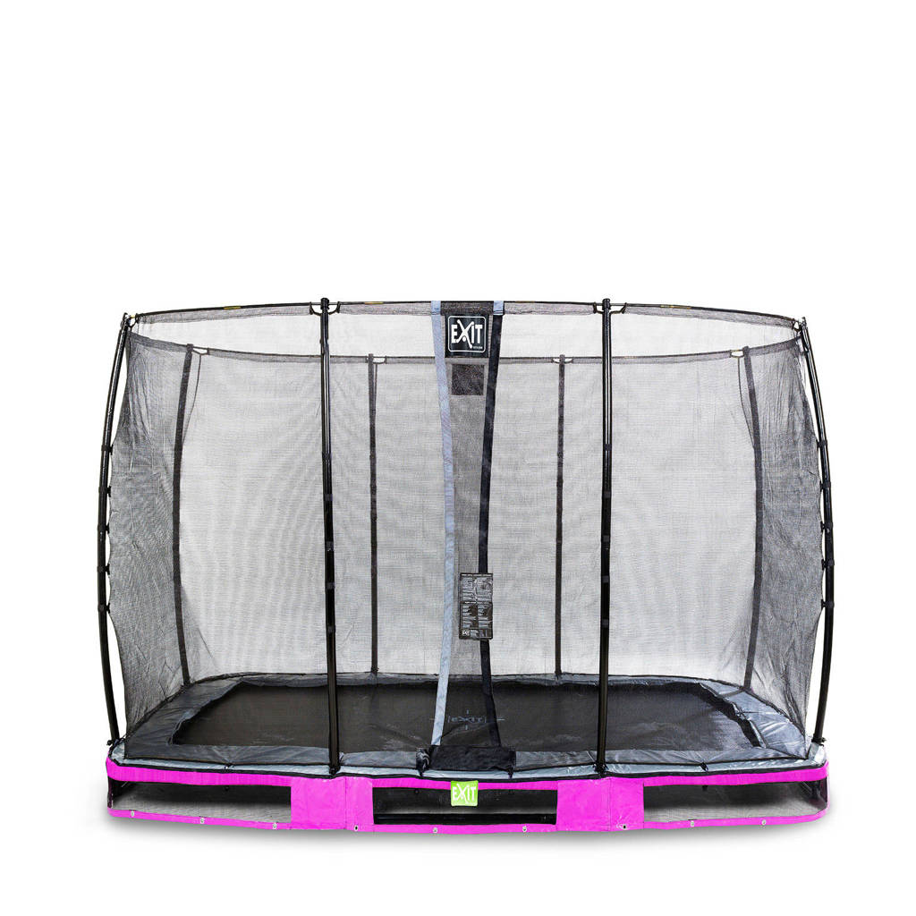 EXIT Elegant Ground trampoline 214x366 cm, Paars