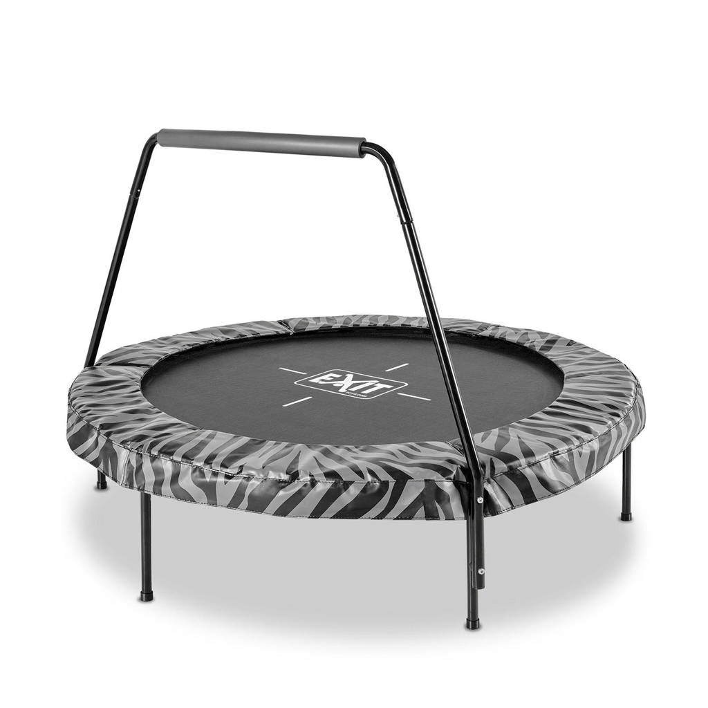 EXIT Tiggy trampoline 140 cm, zwart / grijs