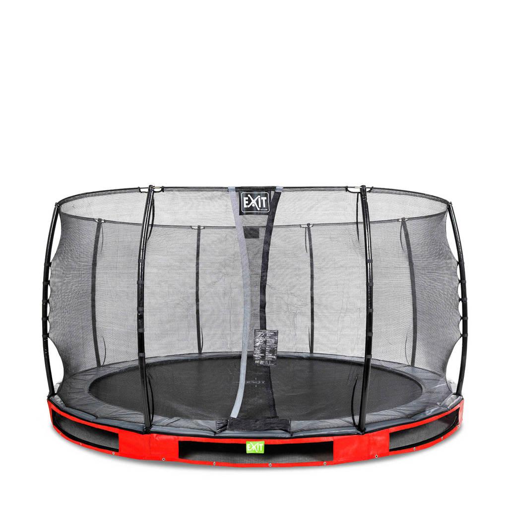 EXIT Elegant Ground trampoline 427 cm, Rood