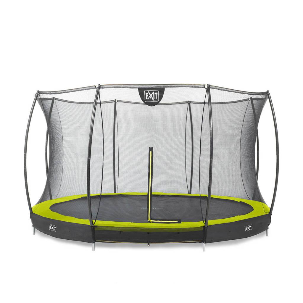 EXIT Silhouette Ground trampoline Ø366 cm, Groen