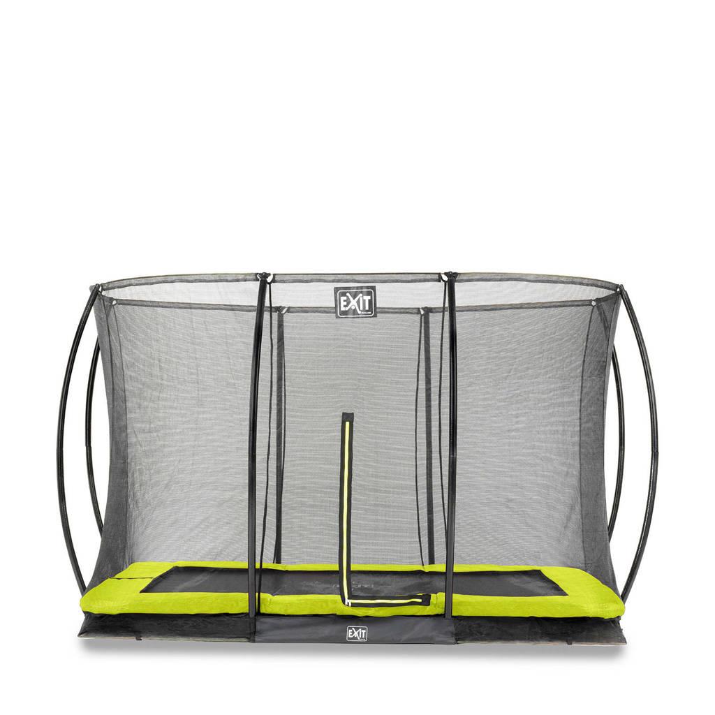 EXIT Silhouette Ground trampoline 244x366 cm, Groen