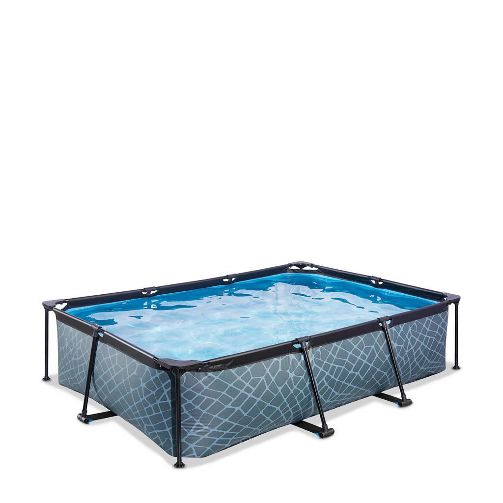 EXIT Stone zwembad 300x200x65cm met filterpomp grijs