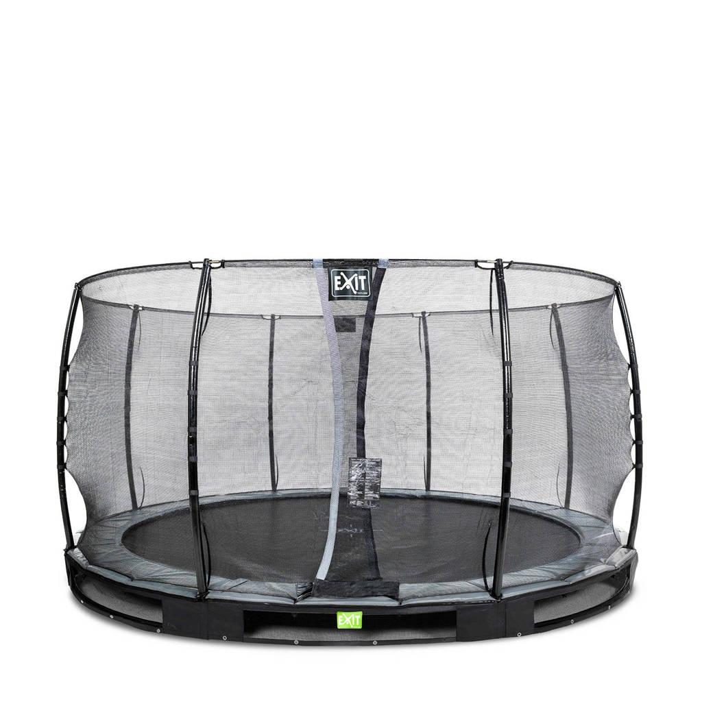 EXIT Elegant Ground trampoline 427 cm, Zwart