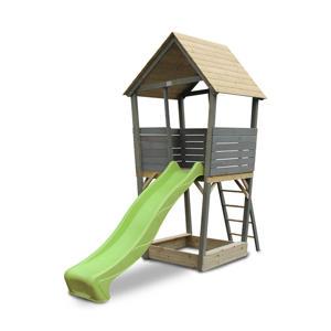 Aksent houten speeltoren grijs