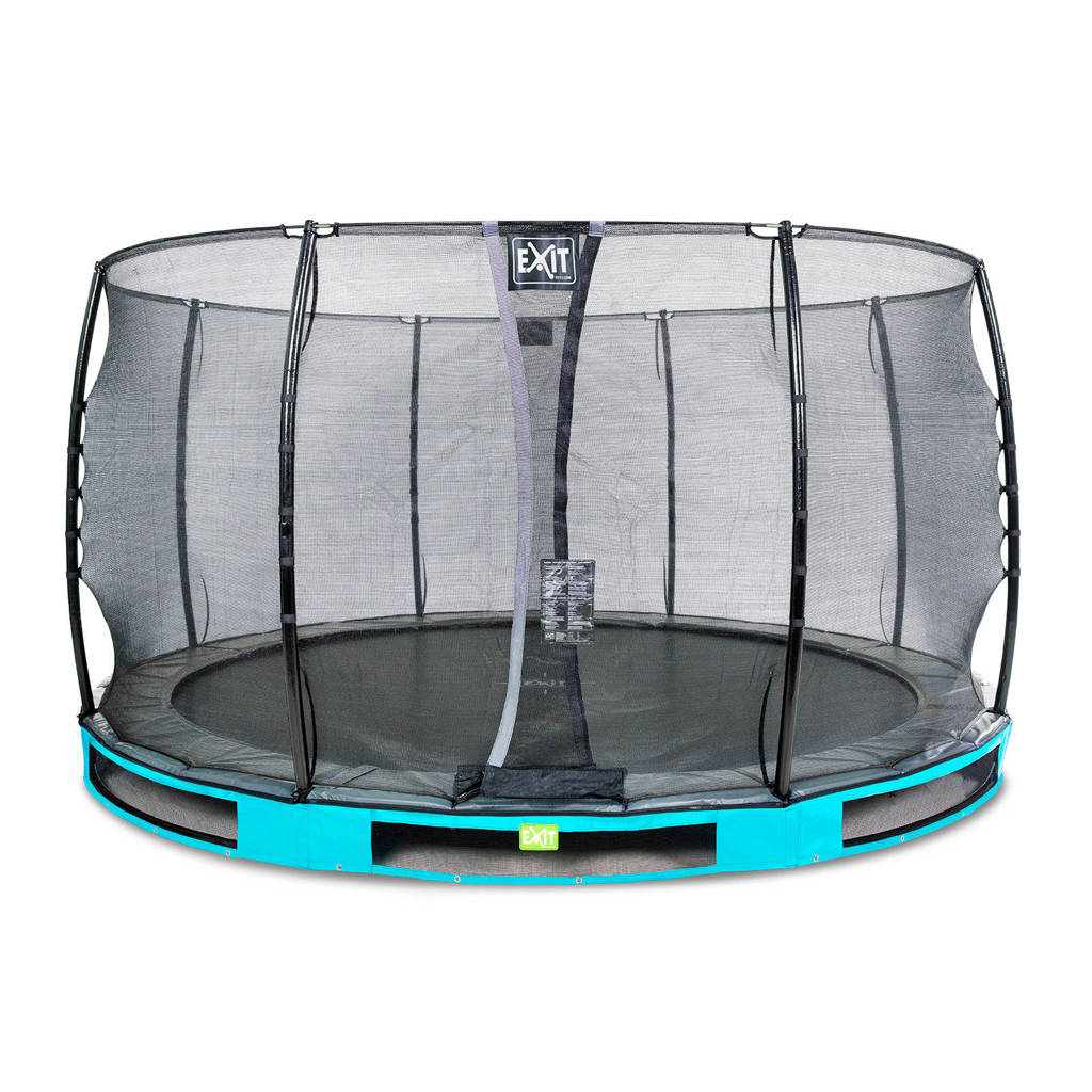 EXIT Elegant Ground trampoline 366 cm, Blauw