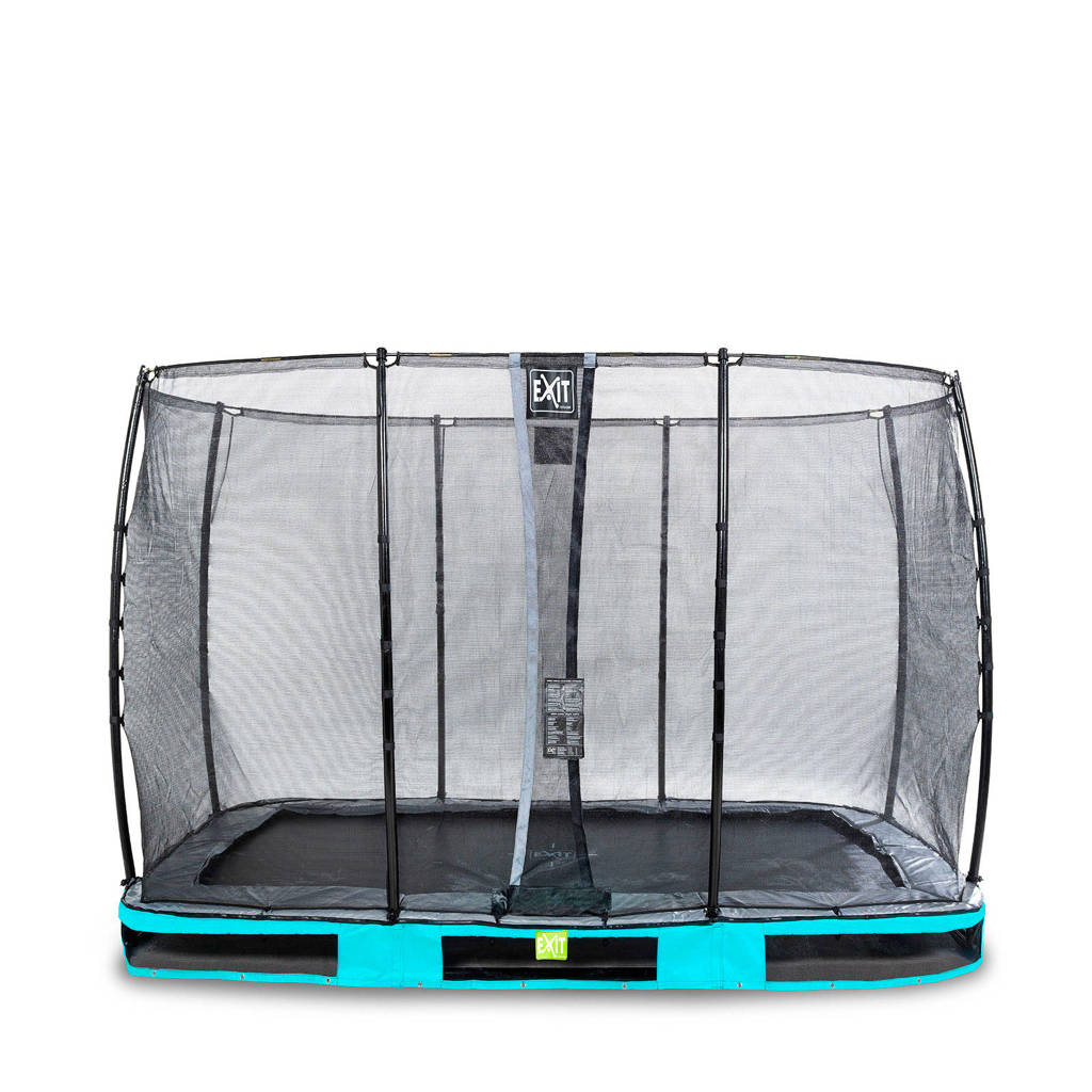 EXIT Elegant Ground trampoline 214x366 cm, Blauw