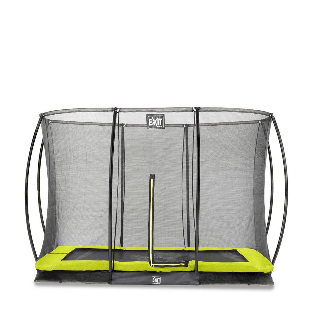 EXIT Silhouette Ground trampoline 214x305 cm, Groen