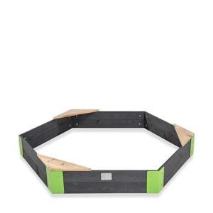 Aksent houten zandbak zeshoek 160x140cm