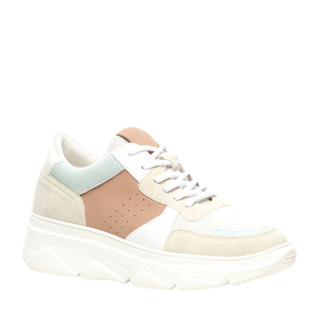 Scapino Blue Box   dad sneakers wit/multi, Wit/multi