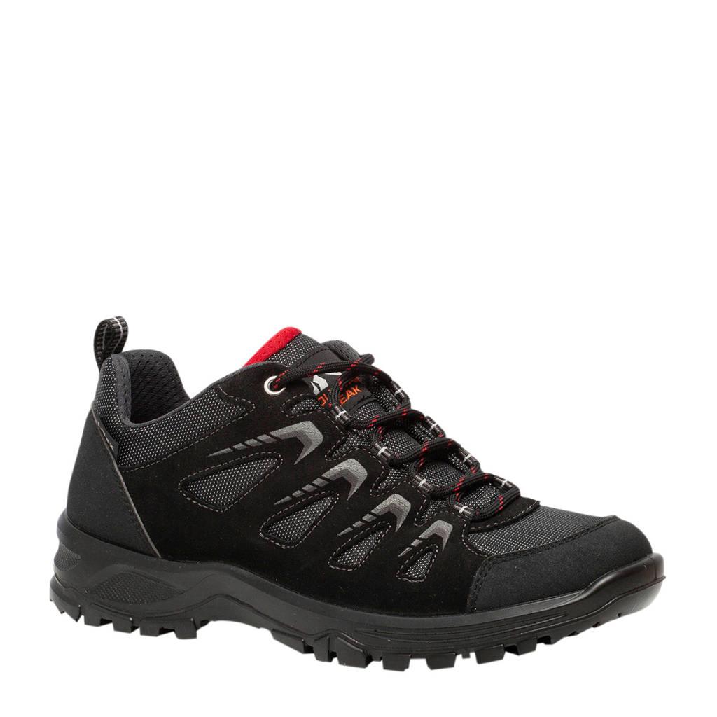 Scapino Mountain Peak   leren wandelschoenen zwart, Zwart/grijs