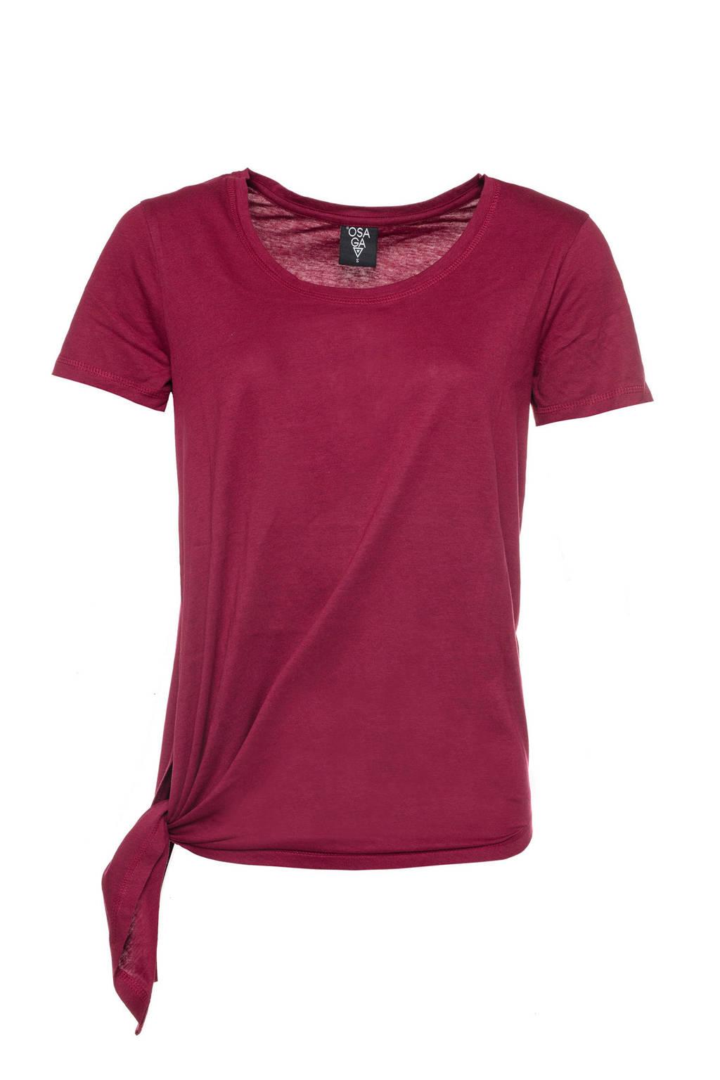 Scapino Osaga asymmetrisch sport T-shirt paars, Paars