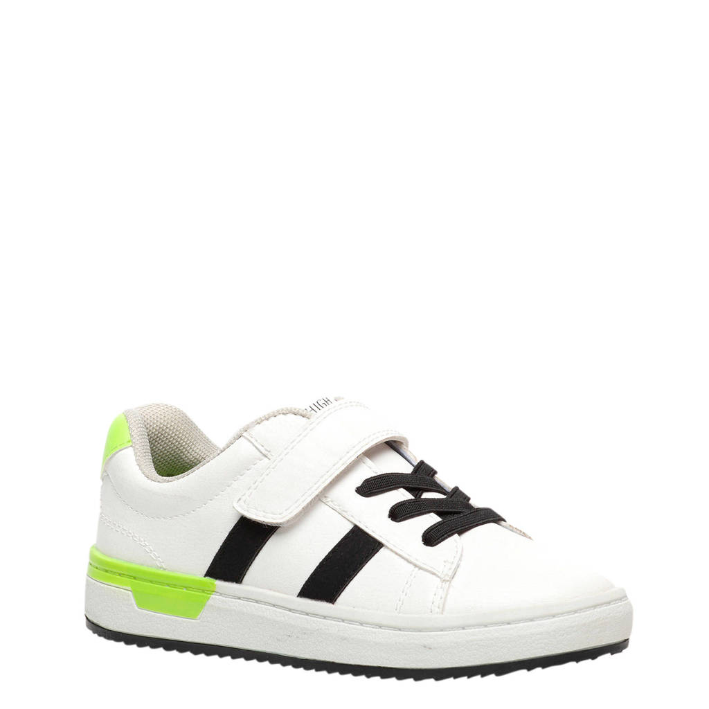 Scapino Blue Box   sneakers wit, Wit/zwart/limegroen