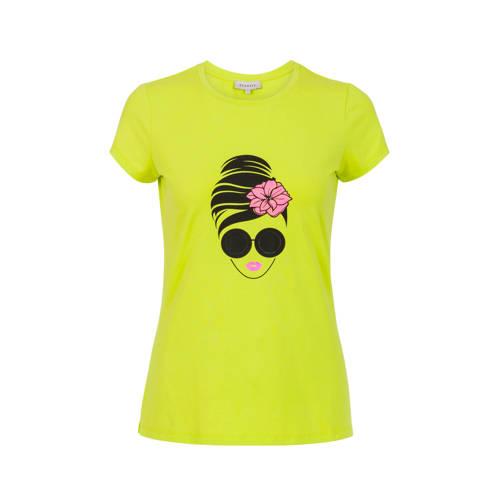 PROMISS T-shirt met printopdruk limegroen