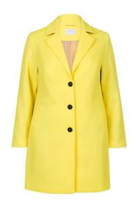 Miss Etam Plus coat geel, Geel