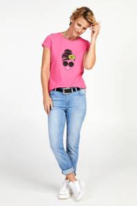 PROMISS T-shirt met printopdruk roze, Roze