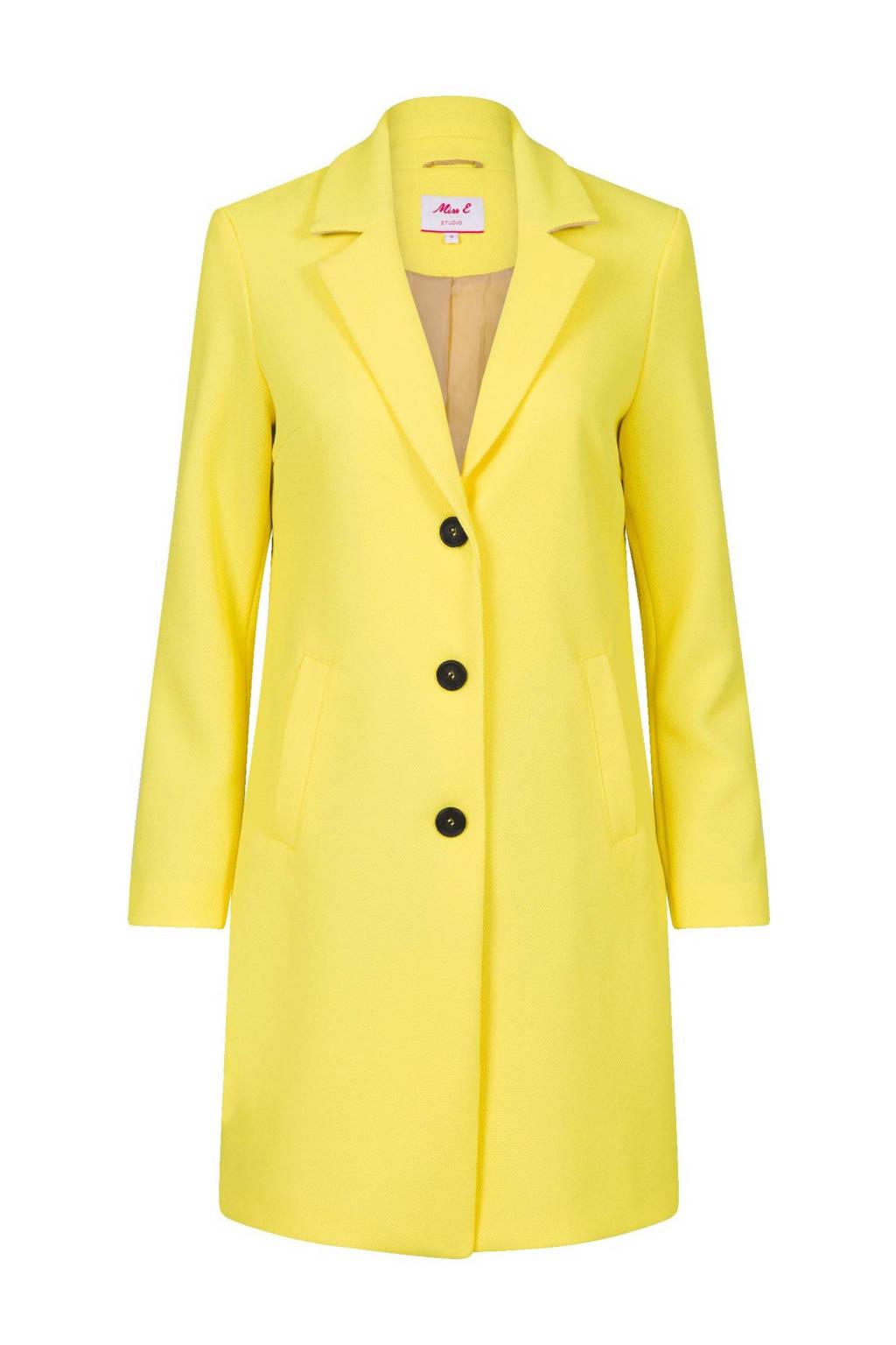 Miss Etam Regulier coat geel, Geel