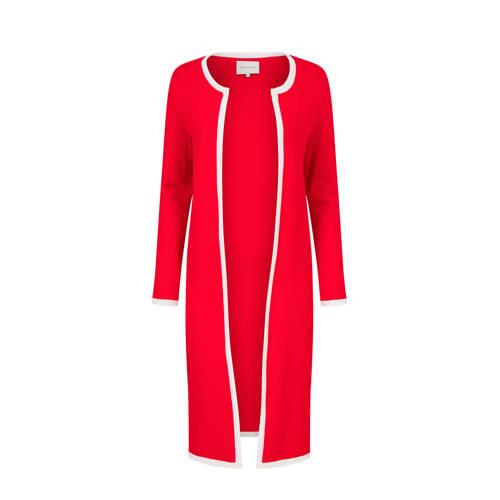 PROMISS vest met contrastbies rood