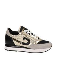 Cruyff Park Runner  sneakers slangenprint wit/goud, Wit/Zwart/Goud