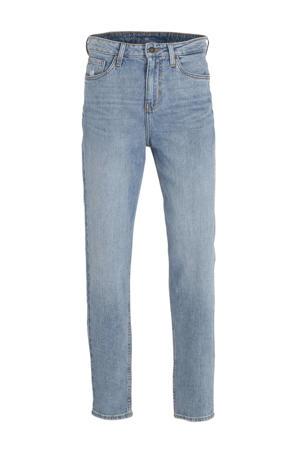 high waist straight fit jeans met biologisch katoen lichtblauw