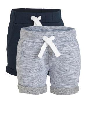 sweatshort - set van 2 blauw