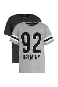 C&A Here & There T-shirt - set van 2 grijs melange/antraciet, Grijs melange/antraciet
