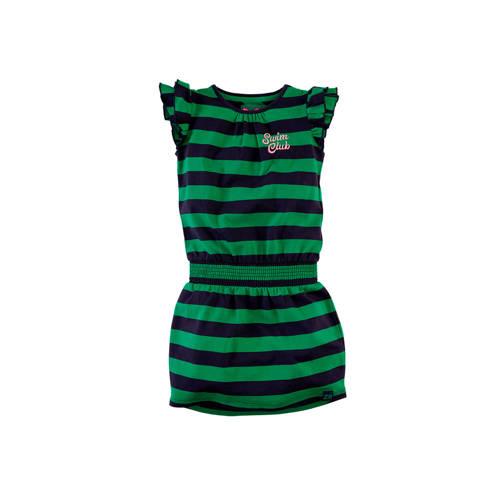 Z8 gestreepte jersey jurk Michelle groen/donkerbla