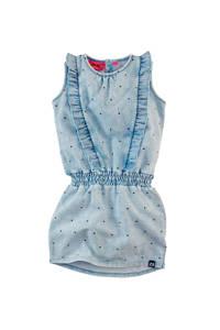 Z8 jersey jurk Dunja met all over print en ruches light denim bleached, Light denim bleached
