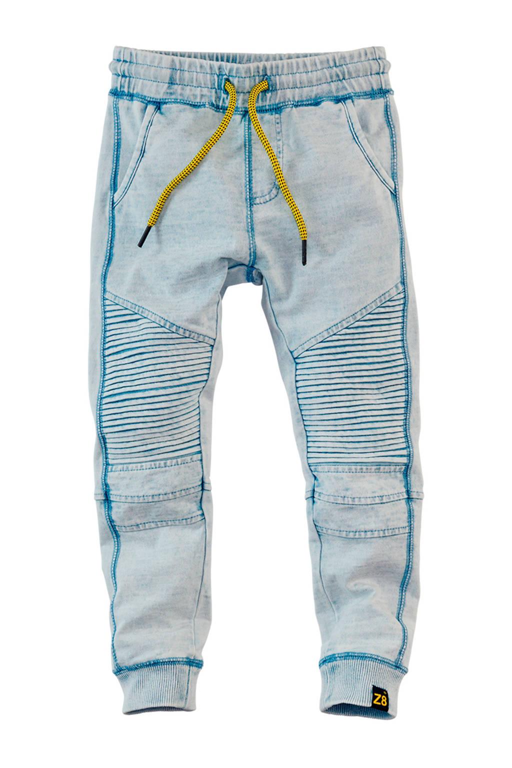 Z8   joggingbroek Dean met textuur blauw, Blauw