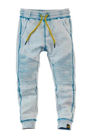 joggingbroek Dean met textuur blauw