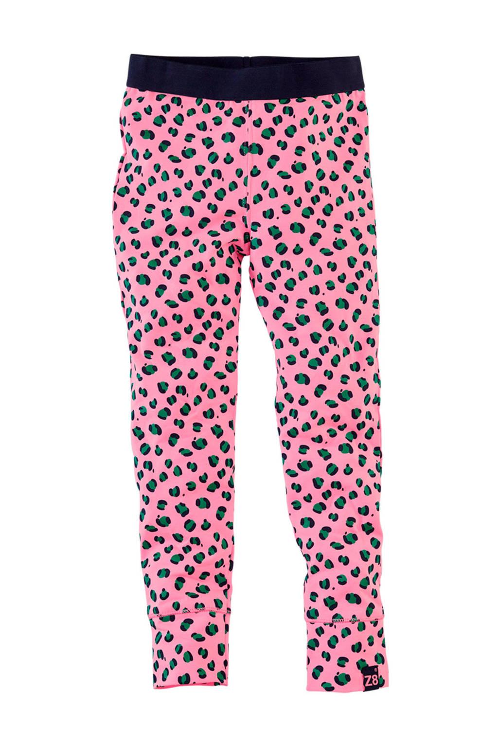 Z8 legging Barbara met panterprint roze/zwart/groen, Roze/zwart/groen