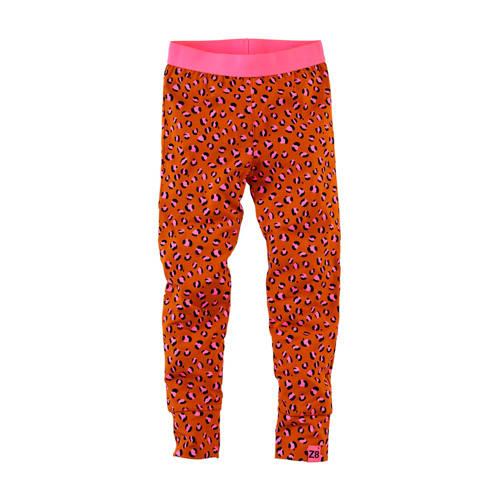 Z8 legging Barbara met panterprint donker oranje/r