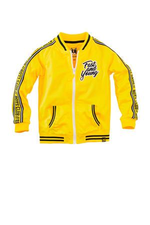 vest Stephan met contrastbies geel/zwart/wit