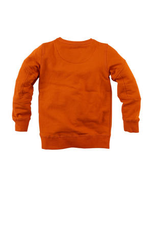 sweater Duncan met printopdruk oranje/geel/zwart