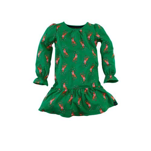 Z8 jersey jurk Natalie met all over print en ruche