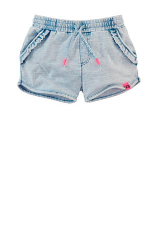 sweatshort Debra light denim bleached/roze