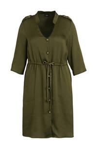 Zizzi semi-transparante A-lijn jurk zwart/goud, Zwart/goud