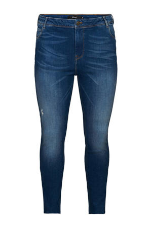 cropped high waist skinny jeans Sally dark denim