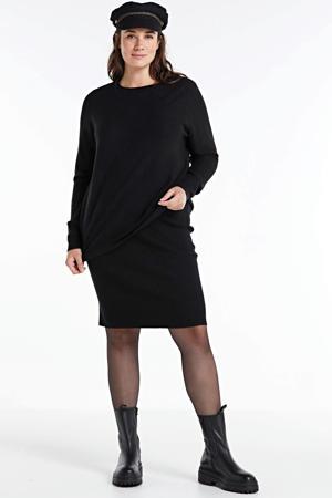 trui Amelia met textuur zwart