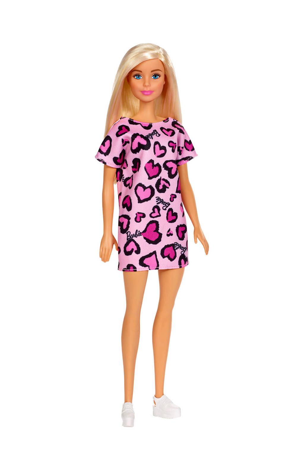 Barbie met klassieke outfit roze jurk