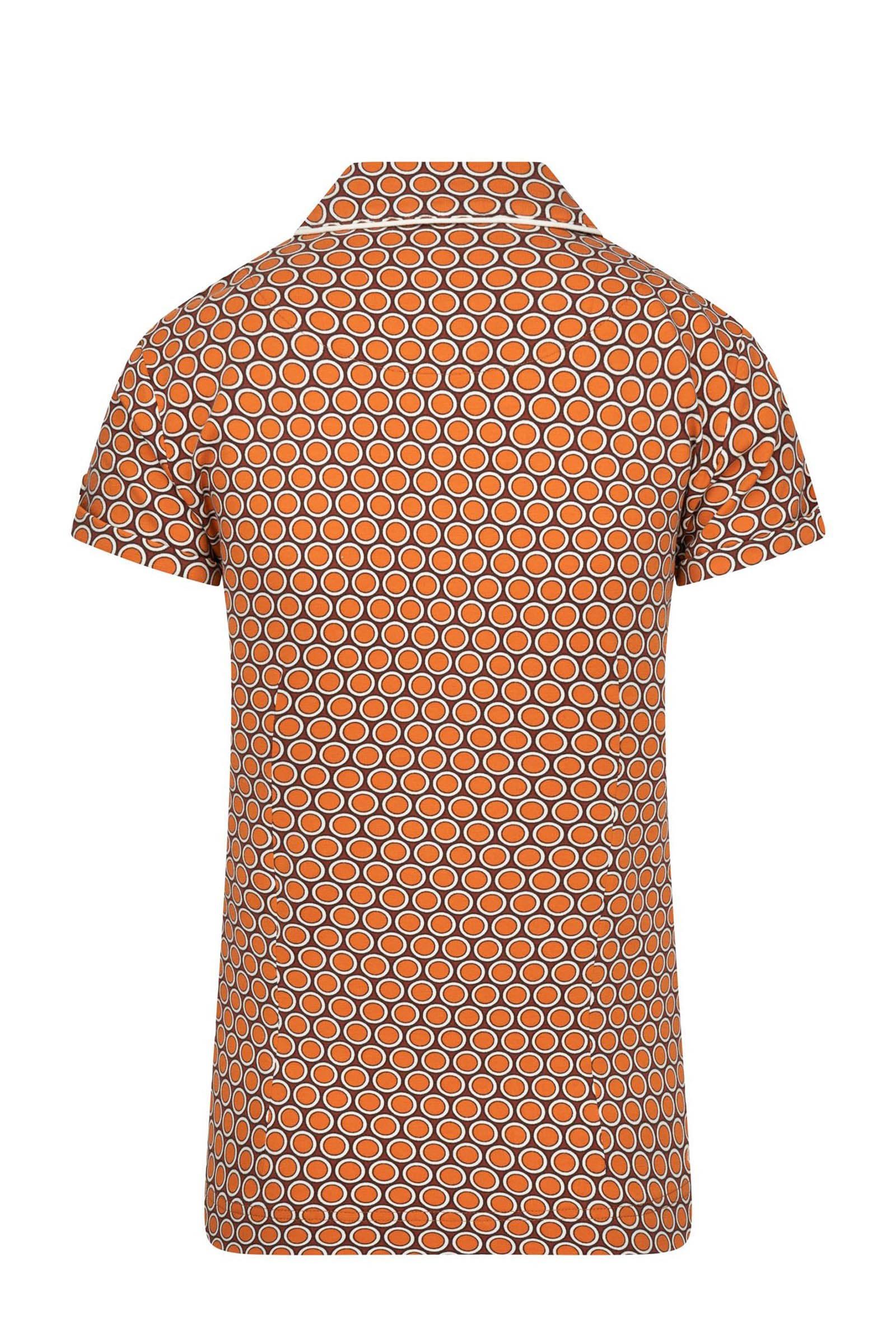 4funkyflavours top Lay It On The Line met all over print oranje/multi