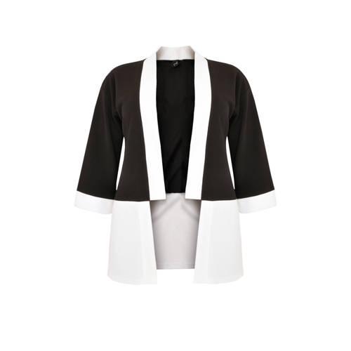 Yoek vest zwart/wit