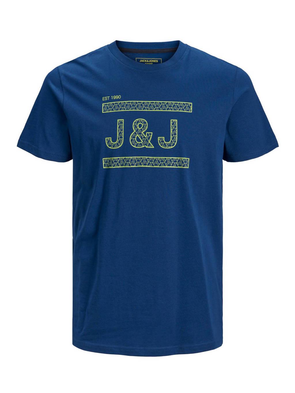 JACK & JONES PLUS SIZE T-shirt met logo marine, Marine