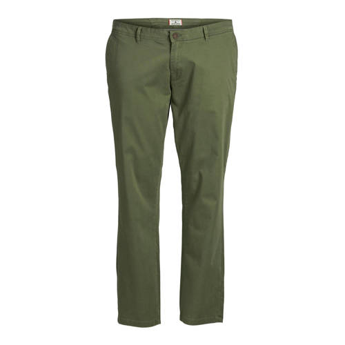 JACK & JONES PLUS SIZE slim fit chino olive ni