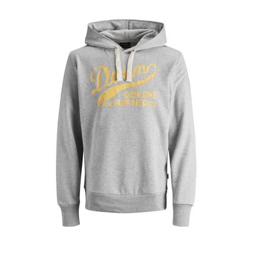 JACK & JONES PLUS SIZE hoodie met logo grijs