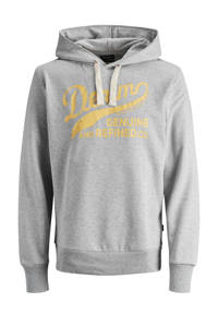 JACK & JONES PLUS SIZE hoodie met logo grijs, Grijs